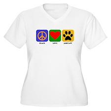 Peace Love AmStaff Plus Size T-Shirt