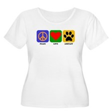 Peace Love AmStaff Plus Size T-Shirt