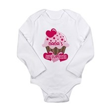 Nana's Lil' Cupcake Long Sleeve Infant Bodysuit