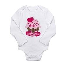 Oma's Lil' Cupcake Long Sleeve Infant Bodysuit