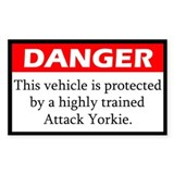 Danger Yorkie Decal
