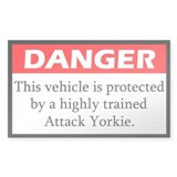 Danger Yorkie Stickers