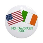 IRISH AMERICAN PRIDE 2 Ornament (Round)