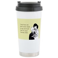 Mother's Favorite Child Stainless Steel Travel Mug