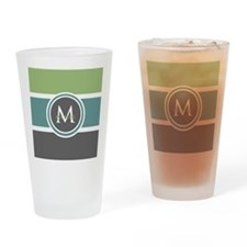 Elegant Modern Monogram Drinking Glass