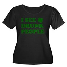 I See Drunk People Plus Size T-Shirt