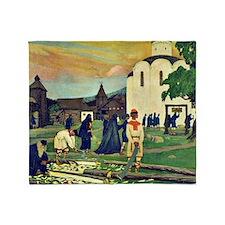 Boris Kustodiev - In the Monastery Throw Blanket