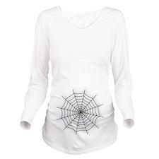 Spider Web Long Sleeve Maternity T-Shirt