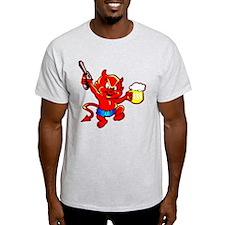 Beer Drinking Pistol Devil T-Shirt