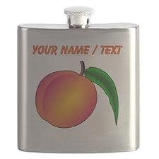 Custom Peach Flask