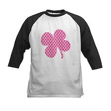 Pink Quatrefoil Shamrock Baseball Jersey