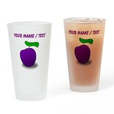 Custom Purple Plum Drinking Glass