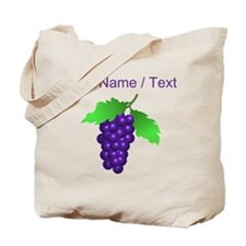 Custom Purple Grapes Tote Bag