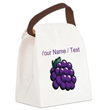 Custom Purple Grapes Canvas Lunch Bag