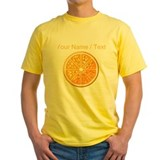 Custom orange fruit tee shirt Mens Yellow T-shirts