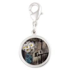 country cowboy boots Silver Round Charm