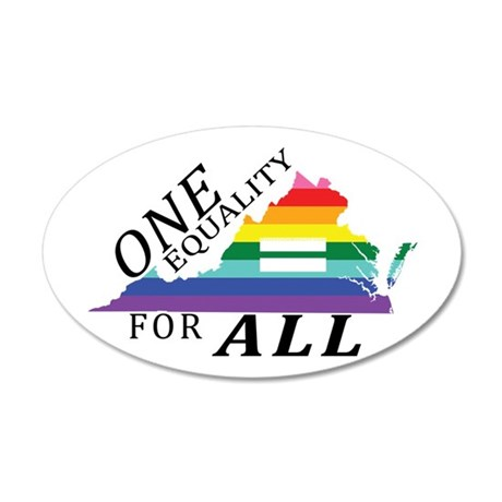 Virginia one equality blk font Wall Decal