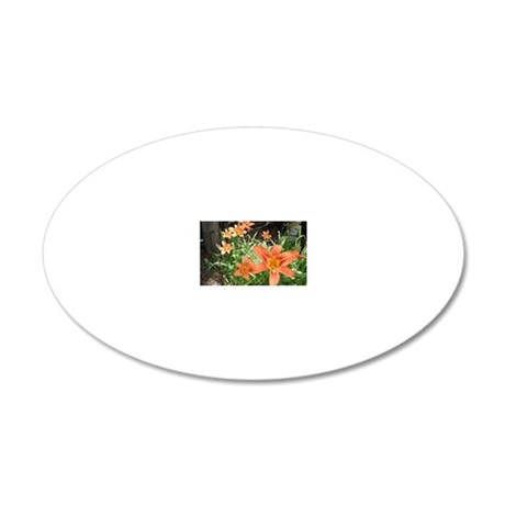 Tiger Lillies 20x12 Oval Wall Decal