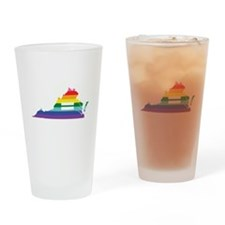 Virginia equality Drinking Glass