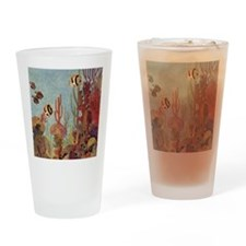 Vintage Tropical Fish and Coral  Drinking Glass