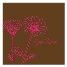 Doodle Flowers Personalized Invitations