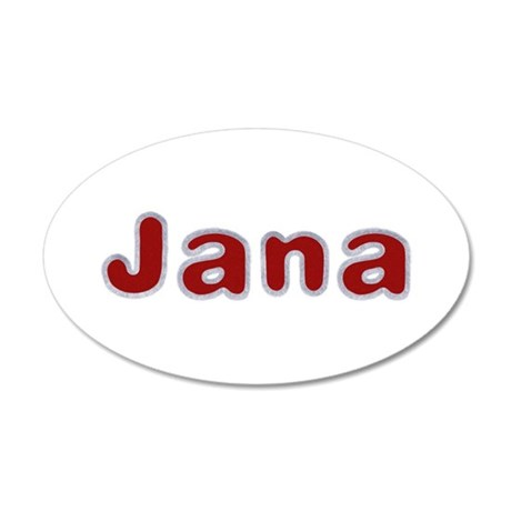 Jana Santa Fur 20x12 Oval Wall Decal