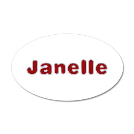 Janelle Santa Fur 20x12 Oval Wall Decal