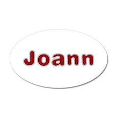 Joann Santa Fur 20x12 Oval Wall Decal
