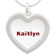 Kaitlyn Santa Fur Silver Heart Necklace