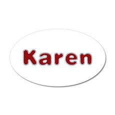 Karen Santa Fur 35x21 Oval Wall Decal
