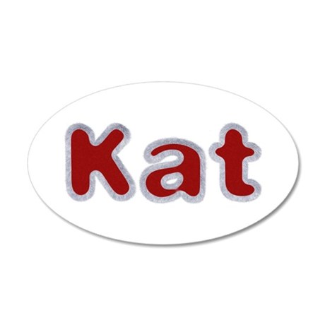 Kat Santa Fur 20x12 Oval Wall Decal