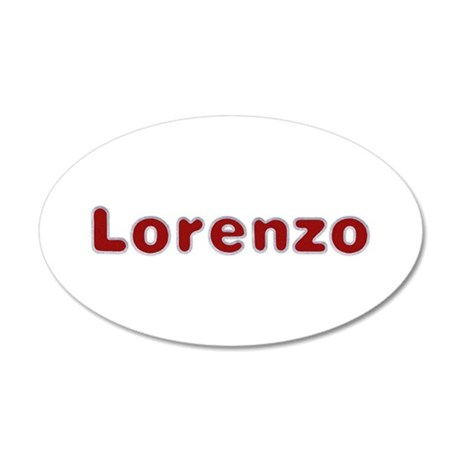 Lorenzo Santa Fur 35x21 Oval Wall Decal