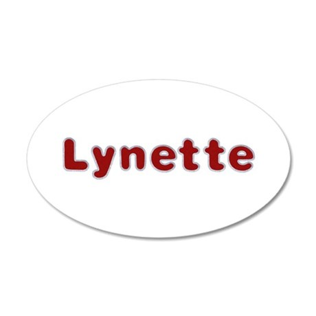 Lynette Santa Fur 20x12 Oval Wall Decal