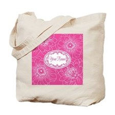 Pink Flower Blossoms Personalized Tote Bag