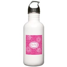 Pink Flower Blossoms Personalized Water Bottle