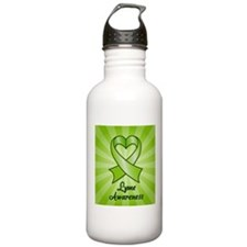 Lyme Disease Awareness Heart Ribbon Water Bottle