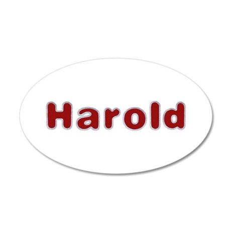 Harold Santa Fur 20x12 Oval Wall Decal