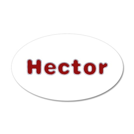 Hector Santa Fur 20x12 Oval Wall Decal