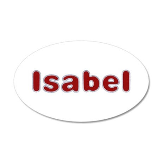 Isabel Santa Fur 20x12 Oval Wall Decal