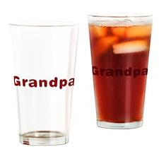 Grandpa Santa Fur Drinking Glass