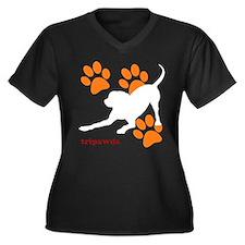 Tripawds Hound Dog Plus Size T-Shirt