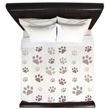 Paw Prints King Duvet