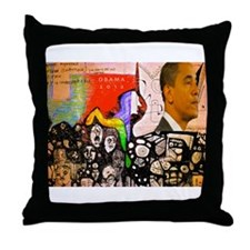Obama Pride Throw Pillow
