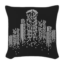 Cityscape Woven Throw Pillow