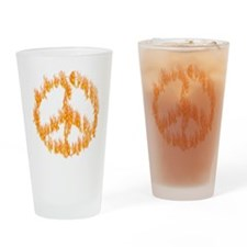 Peace Flame Drinking Glass
