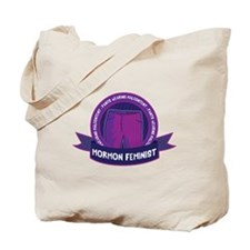 pants-wearing Mormon feminist Tote Bag