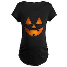 Happy Pumpkin Face Maternity T-Shirt