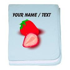 Custom Strawberries baby blanket