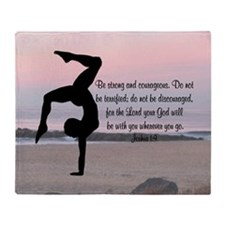 GYMNAST JOSHUA 1:9 Throw Blanket