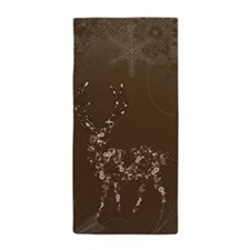 Flower Reindeer Beach Towel